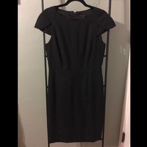 Business professional light wool dress